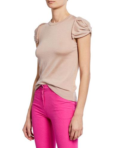 bb28c8c0 Quick Look. No. 21 · Crewneck Ruched-Sleeve Shirt