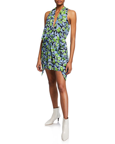 Delf Floral Print Sleeveless Dress