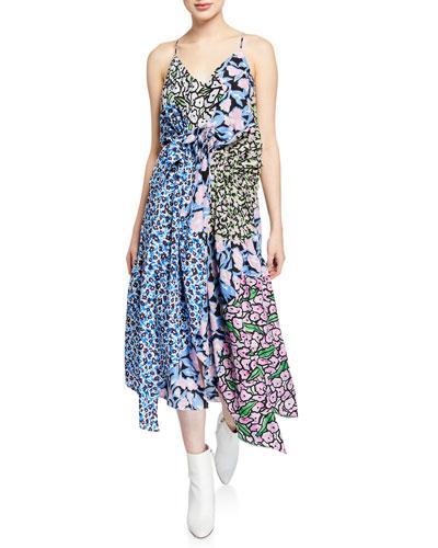 Dev Asymmetric Patchwork Dress