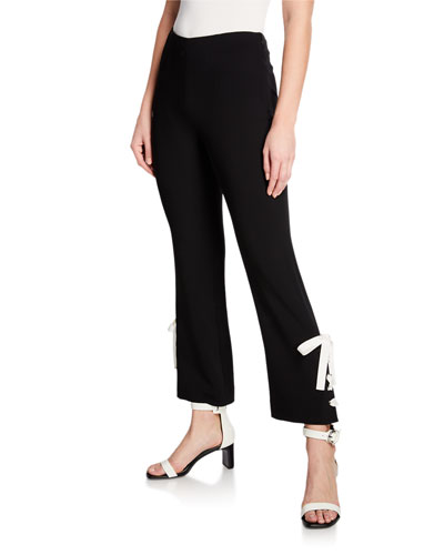 Izella Contrast Lace-Up Pants