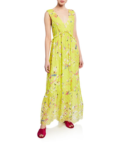 834e51e01 Quick Look. Tanya Taylor · Catalina Floral-Print V-Neck Sleeveless Maxi  Dress