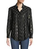 Finley Monica Luxe Dot Button-Down Shirt