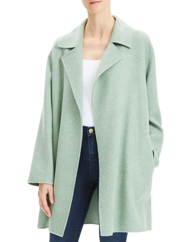 Oversized Wool-Cashmere Melange Jacket
