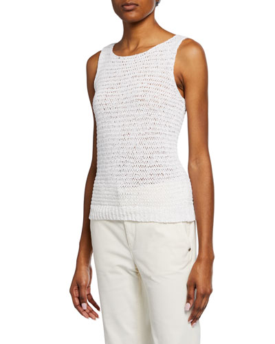 Knit Scoop-Neck Sleeveless Travel Shell