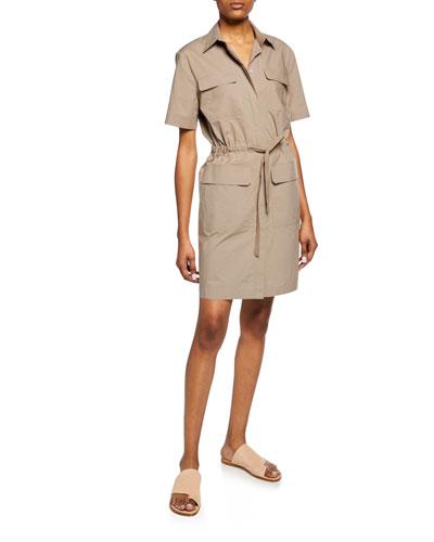 3b2d9163c13e Quick Look. Theory · Travel Cotton Short-Sleeve Utility Dress