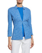 St. John Collection Engineered Coastal Texture Tweed Knit