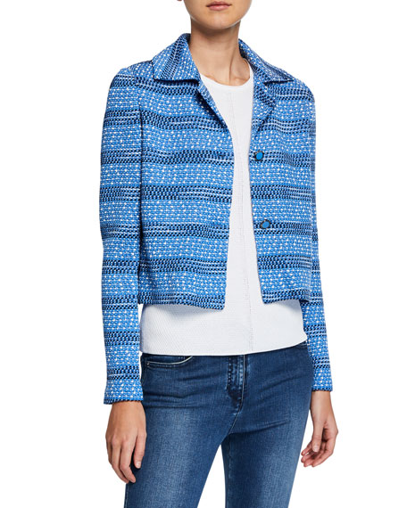 St. John Collection Tweed Knit Cropped Jacket