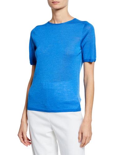 Jersey Knit Wool/Silk Top