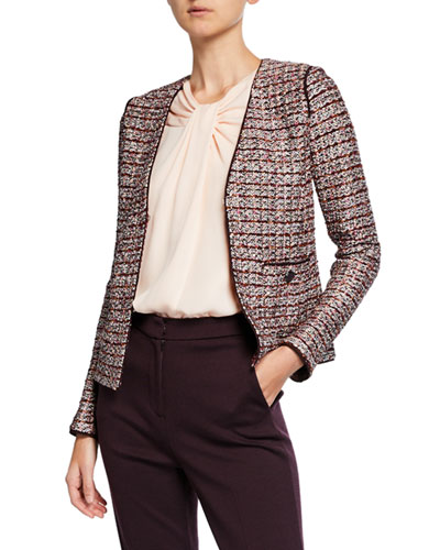 Multi Textured Inlay Knit Jacket