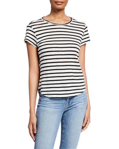 e1518fa4b47 Quick Look. FRAME · Striped Linen Short-Sleeve Tee