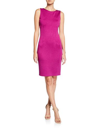 Milano Wool-Blend Pintuck Dress