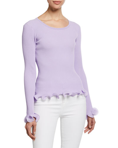 Wired Edge Long-Sleeve Pullover