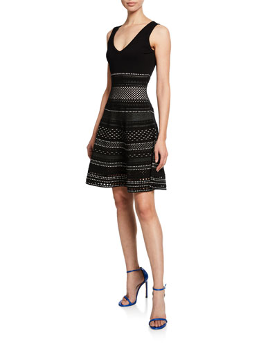 Black Cutout Dress Neiman Marcus