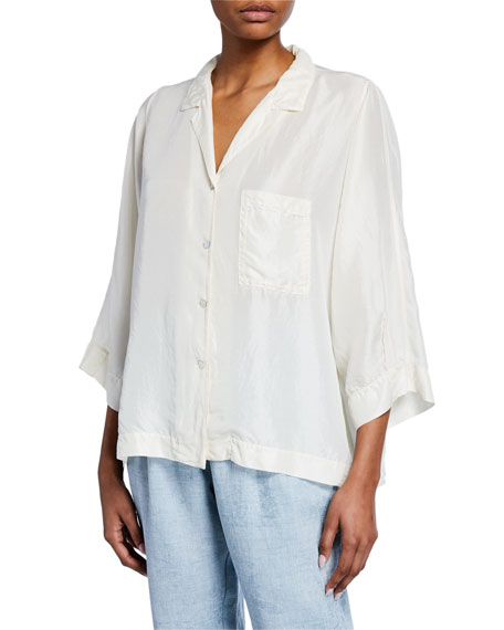 Forte Forte Button-Front Silk Habutai Shirt