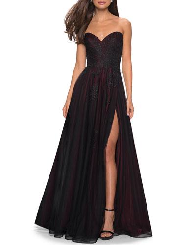 e8486c12050 Black Tulle Gown