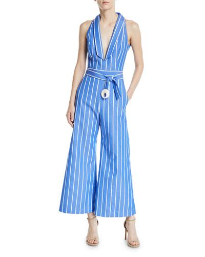 4e734da27af9 Quick Look. Alexis · Eckhart Striped Sleeveless Wide-Leg Jumpsuit