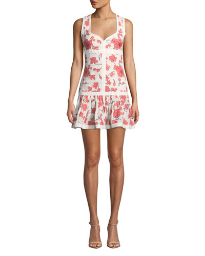 0bd7c9c8fa Quick Look. Alexis · Lilou Sleeveless Floral Short Dress. Available in Red  Pattern