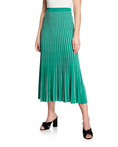 2ce9f121a0f Quick Look. ASTR · Yuri Striped Pleated Midi Skirt