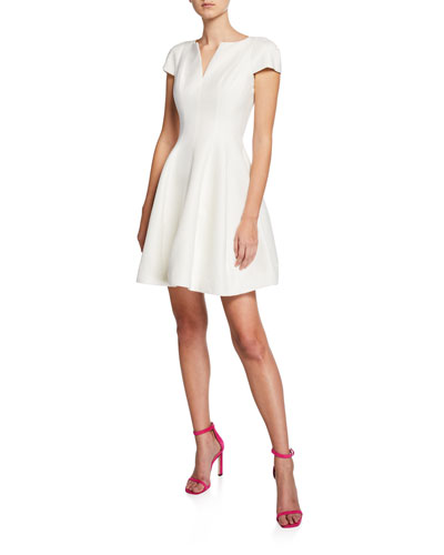ff5f666cf0da Quick Look. Halston Heritage · Maggie Short Fit-&-Flare Dress