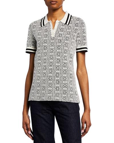 Gemini Link Short-Sleeve Polo Sweater