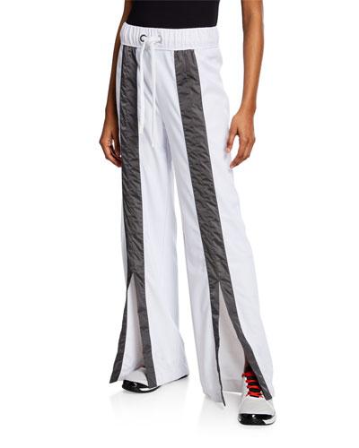 Kimi Split-Front Drawstring Track Pants