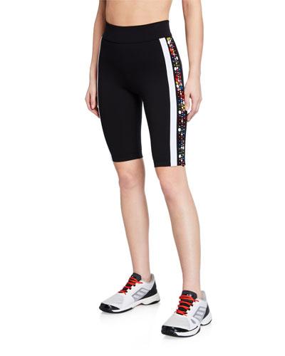 Lapuwale Embellished Side-Stripe Bike Shorts