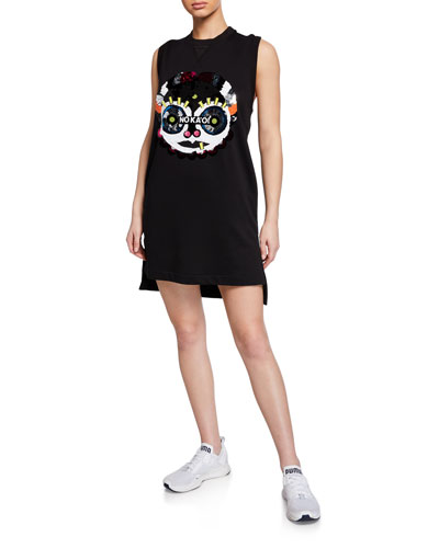 Presence 2 Sequined Graphic Sleeveless Short Dress