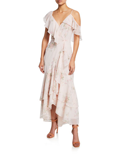 The Elanor Floral Wrap Maxi Dress