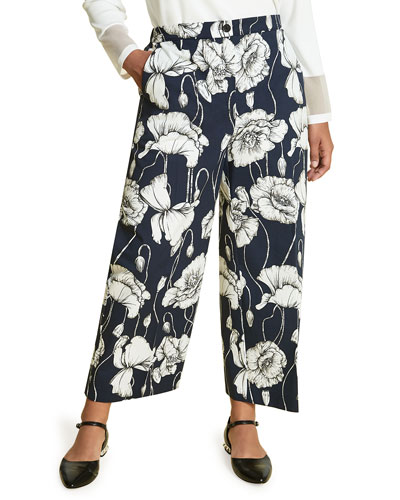 Plus Size Recale Floral-Print Pants