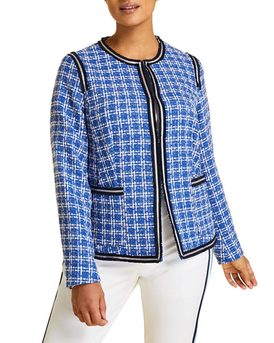 Plus Size Calamaio Tweed Jacket