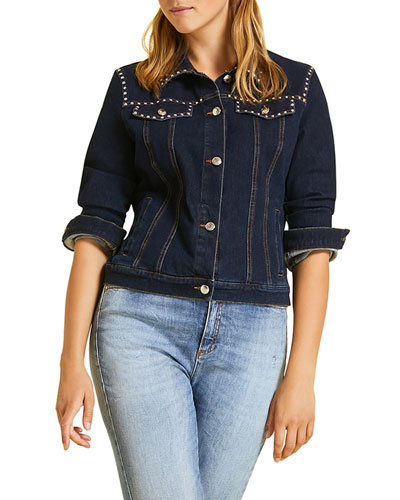 Plus Size Canguro Denim Jacket