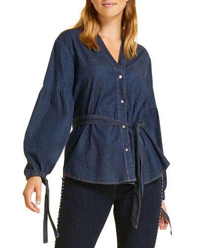 Plus Size Balsamo Denim Shirt