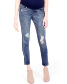 Ingrid & Isabel Maternity Sasha Distressed Denim Skinny-Leg