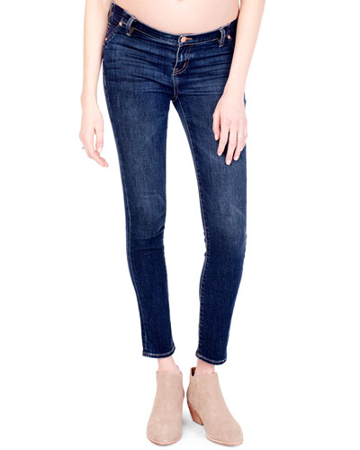 Maternity Sasha Skinny-Leg Denim Jeans with Inset Panels