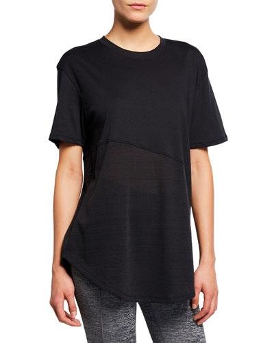 Lighter Longer Mesh Crewneck T-Shirt, Black