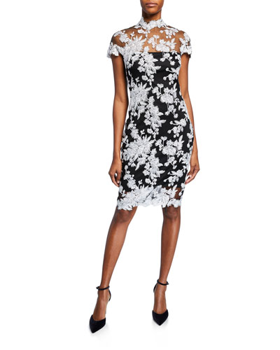 67260a25200 Quick Look. Tadashi Shoji · Lace Applique Cap-Sleeve Cocktail Dress