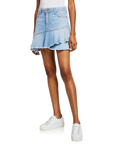 cbd7170497 Cotton Spandex Denim Skirt | Neiman Marcus