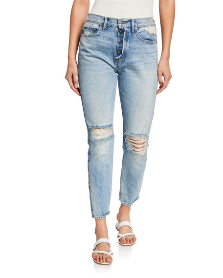 FRAME Rigid Rerelease Le Original Rip-Knee Skinny Jeans