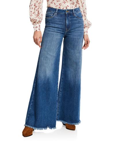Le Palazzo Raw-Edge Flare Jeans