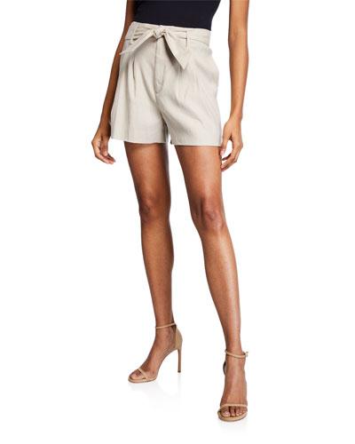 Kaylei Linen Tie-Waist Shorts