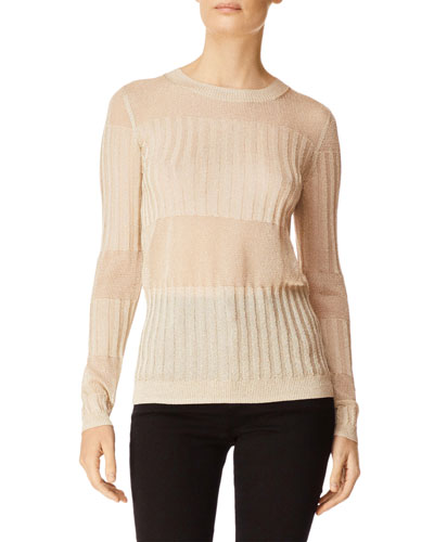 Andrea Ribbed Metallic Sweater