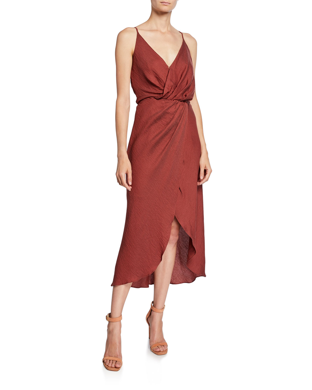 Joie Dresses Tanika Sleeveless Wrap Dress