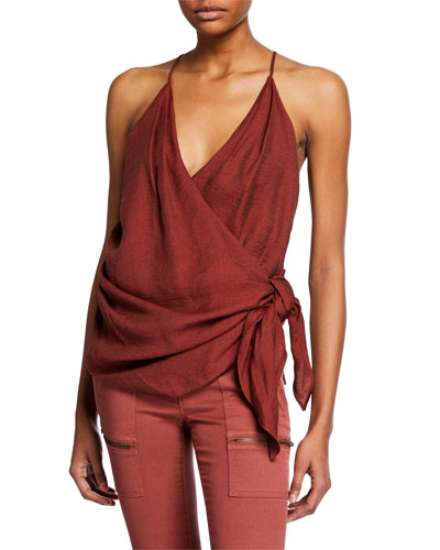 Terika Sleeveless Wrap Top