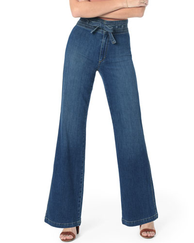 The High-Rise Flare Belted Jeans