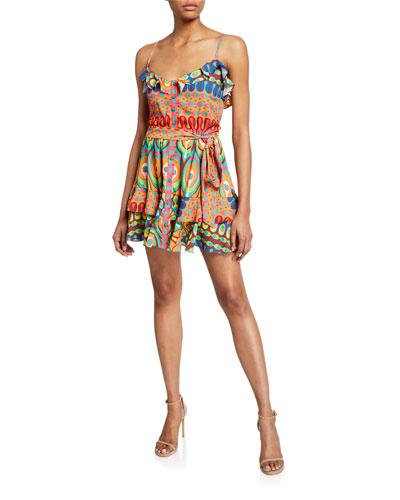 7cf60818098 Quick Look. Alexis · Sirsha Printed Ruffle Short Dress