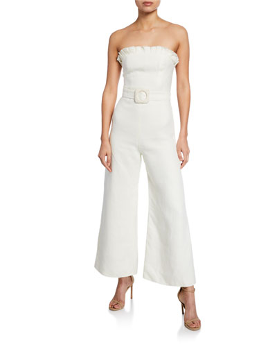 Eleri Linen Belted Jumpsuit