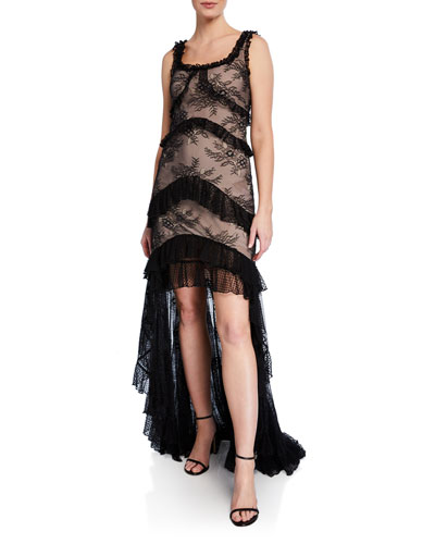 cec480f90be Quick Look. Alexis · Timotha Lace High-Low Ruffle Gown