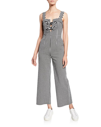 bf1f5829d529 Quick Look. Tanya Taylor · Rosalind Gingham Sleeveless Wide-Leg Jumpsuit