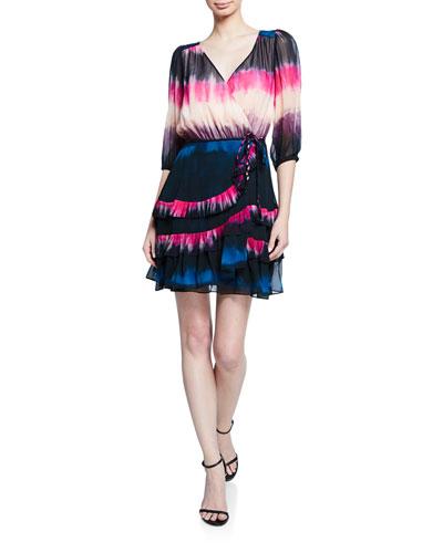 Valeria Tie-Dye Ruffle Short Dress