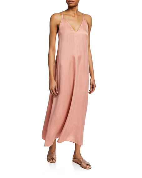 Forte Forte Chic Satin V-Neck Slip Dress